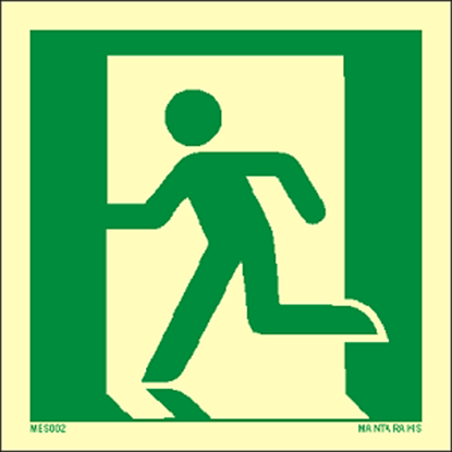Εικόνα της Emergency Exit (left hand) 15 x 15
