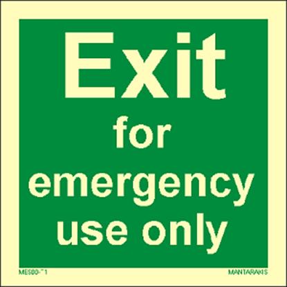 Εικόνα της Text Exit for emergency use only 15 x 15