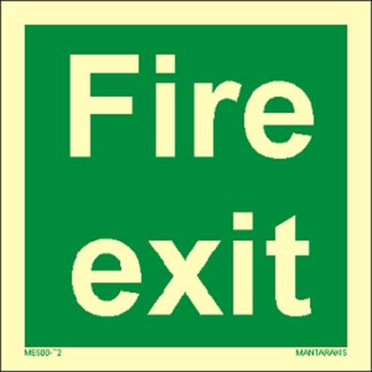 Εικόνα της Text Fire Exit 15 x 15