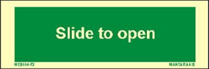 Εικόνα της Text Slide to Open 5 x 15