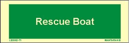 Picture of Text Rescue Boat 5 x 15