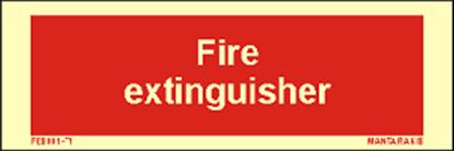 Εικόνα της Text Fire Extinguisher 5 x 15