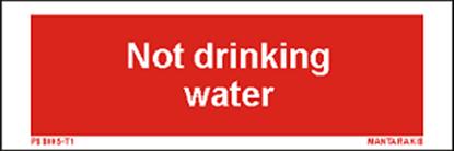 Εικόνα της Text not Drinking water 5 x 15
