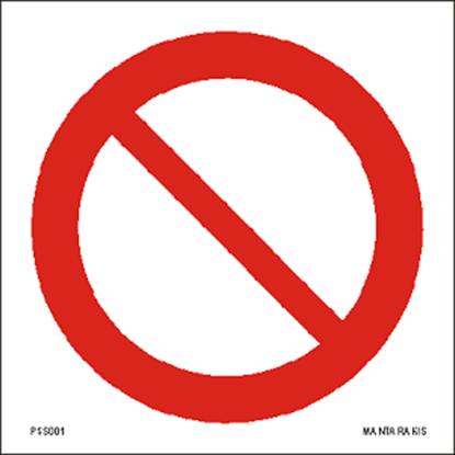 Εικόνα της General prohibition sign 15 x 15