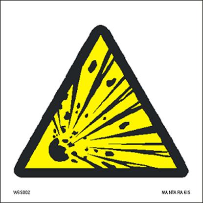 Εικόνα της Warning  Explosive material 15 x 15