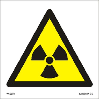 Εικόνα της Warning  Radioactive material or ionizing radiation 15 x 15