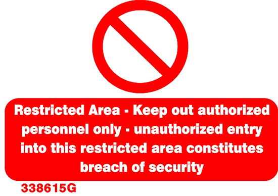 Picture of RESTRICTED AREA  19X28
