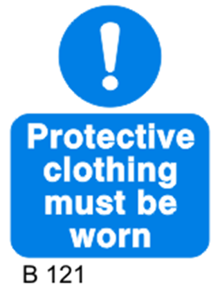 Picture of PROTECTIVE CLOTHING MUST BE WORN 20X25