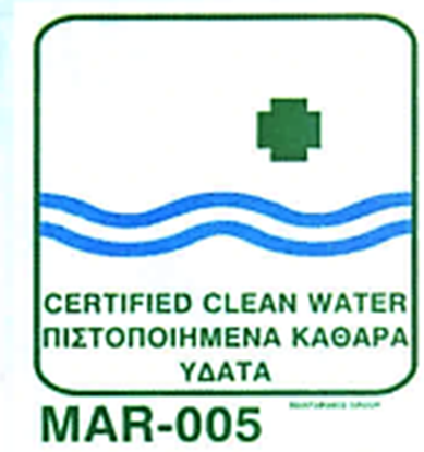 Picture of CERTIFIED CLEAN WATER 20X20