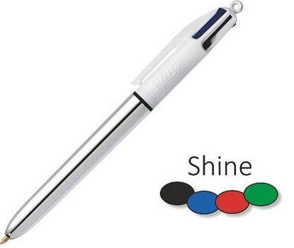 Εικόνα της Στυλό Bic με 4 χρώματα και Ασημί σώμα