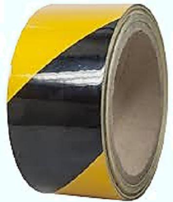 Εικόνα της Reflective tape - Yellow black 45mm x 15m